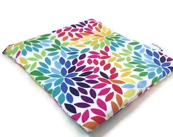 Rainbow Snack Bag 7x7 || Reusable Sandwich Bag || Reusable Snack bag || Eco Friendly Gift || Zippered Pouch || Food Safe Bag