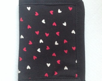 Love Hearts Card Holder Wallet, Credit Card Case, Gift Card or Business Cards