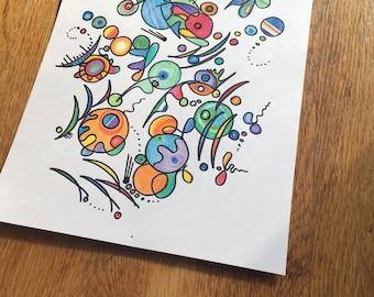 Carolyn's Cartoon Mood Doodles