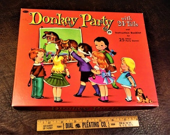1952 Whitman Donkey Party Game