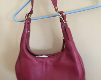 Ladies red hobo bag coach