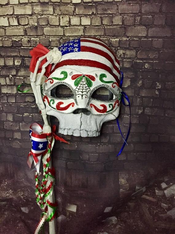 Day Of The Dead Original Masquerade Cinco De Mayo Mexican American Dia De Los Muertos Biohazard Baby Mask