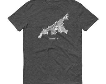 Cleveland Shirt, Cleveland OH, Cleveland TShirt, Cleveland Gift, Cleveland Tee, Cleveland Map, Ohio Shirt, Ohio Map, Cleveland Art, Erie