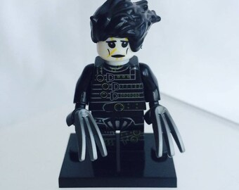 Lego Style Edward Scissorhands Minifigure. Ideal Gift