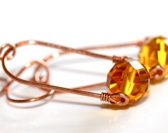 Honey Framed Earrings - 'Tourist Trap Terror'