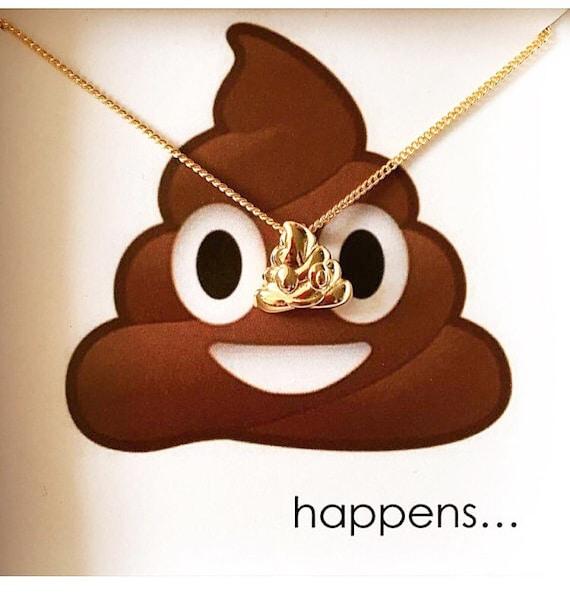 Poop Emoji Necklace Poop Emoji Jewelry Poop Necklace Fun