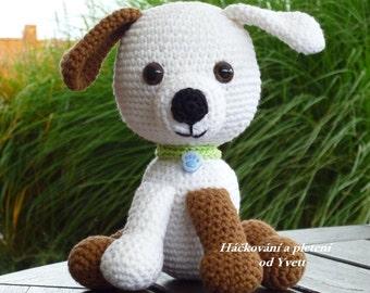 PATTERN - Dog Filip - crochet pattern, amigurumi pattern, dogg pattern, PDF