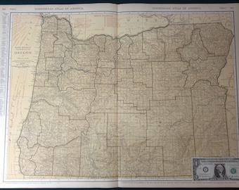 Mcnally oregon map Etsy