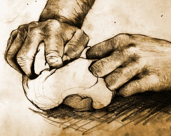 "Giclee Print on Fine art paper ""Mani in Pasta"""