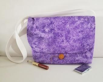 Purple messenger bag/Firefly shoulder bag/purple crossbody bag/Womens purses/Handbags for women/Mother's Day gifts/Lavender handbags