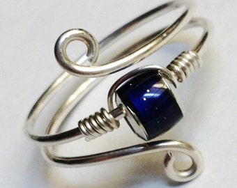 Sterling Silver Mood Ring  Mood Jewelry  Mood Stone Sterling Silver Ring