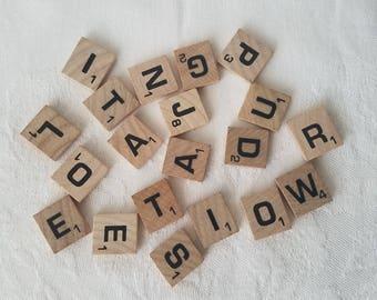 Vintage Scrabble Tiles Random