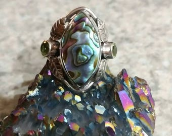 Abalone Ring, Size 6 3/4