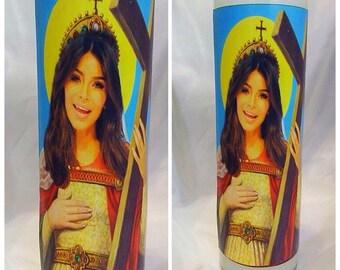 Saint Kim Kardashian Prayer Candle