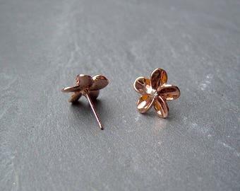 Earrings Flowers Roségoldfarben