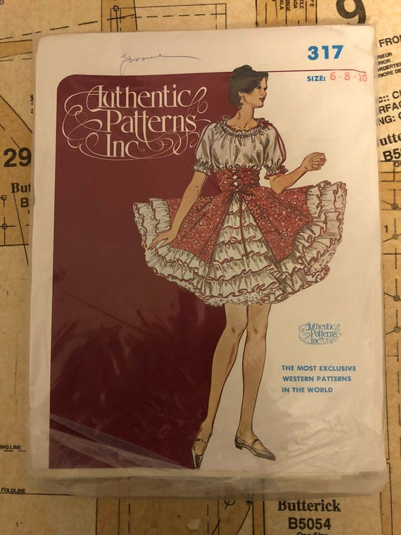UNCUT Square Dance Dress Sewing Pattern Authentic Patterns 317