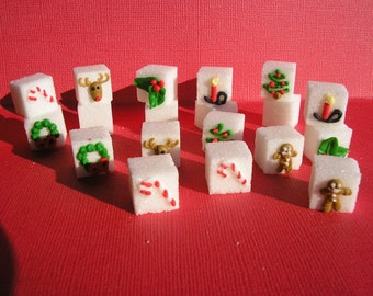28 Pcs Decorated Sugar Cubes Christmas Collection     Simply Darling