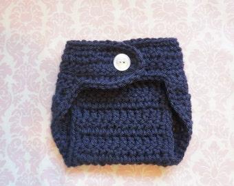 Navy blue diaper cover/ newborn diaper cover/ diaper cover