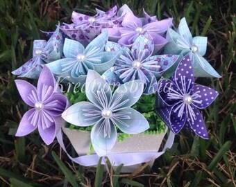 Origami Paper Flower Bouquet / paper flowers/ Wedding decorations / Bridal Shower/ Baby Shower/ centerpiece/ bouquet/ paper bouquet
