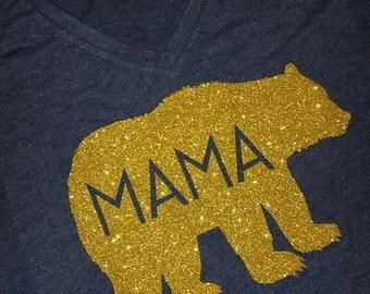 Mama Bear glitter shirt