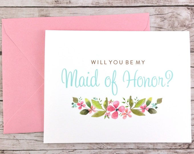Will You Be My Maid of Honor Card (FPS0026)
