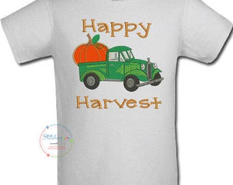 Happy Harvest Shirt or Onesie- Any  color scheme (6645)