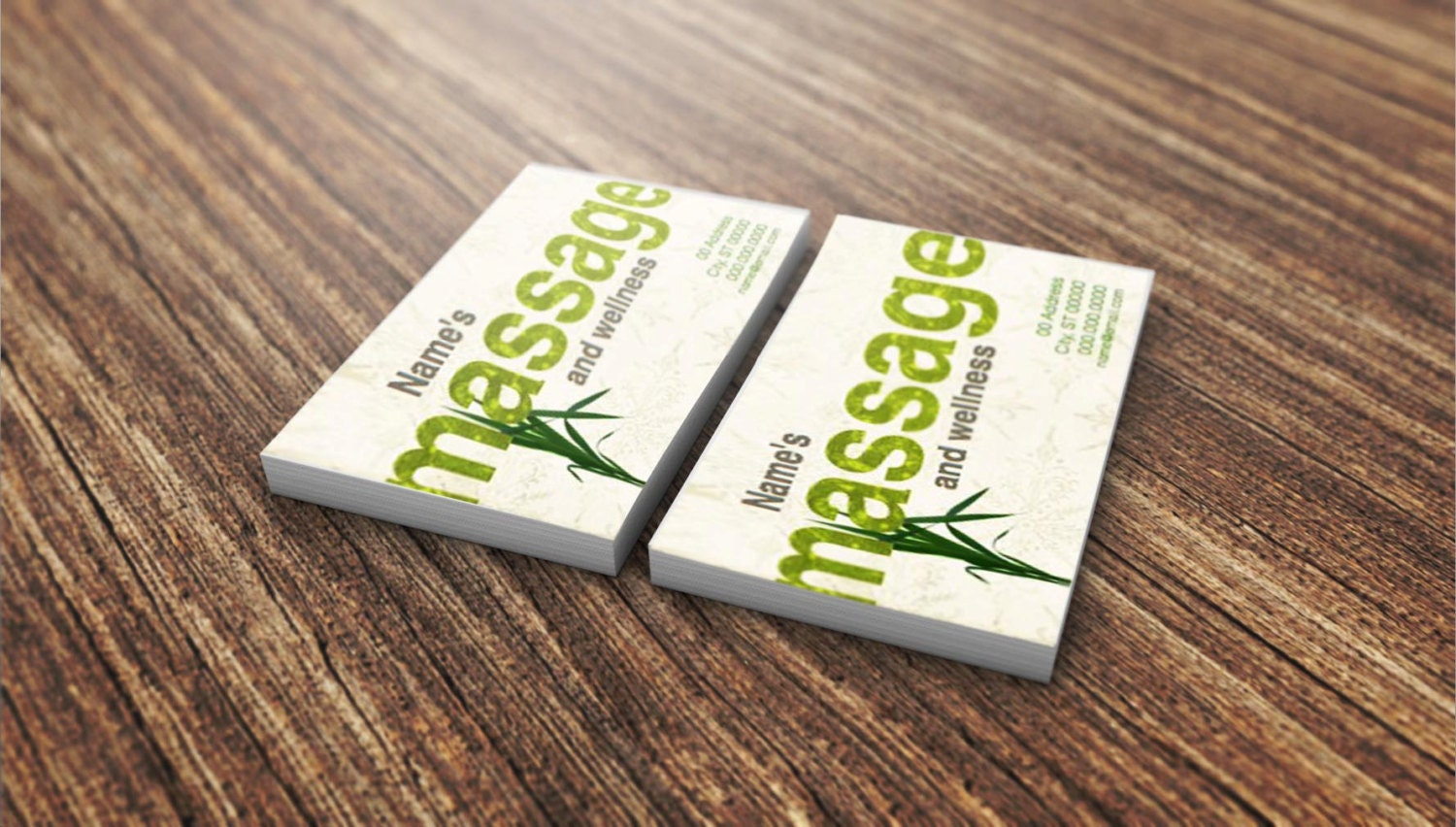 Massage Massage Business Card Wellness Business Card