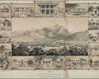 Poster, Many Sizes Available; No. 6. View Of Honolulu. From The Catholic Church. (C. 1854) #031215