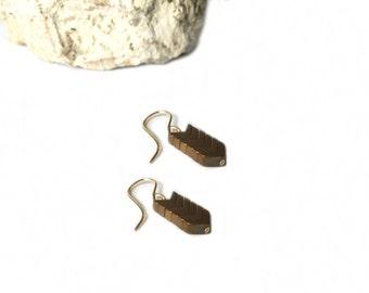 Hematite 'V' Arrow Earrings