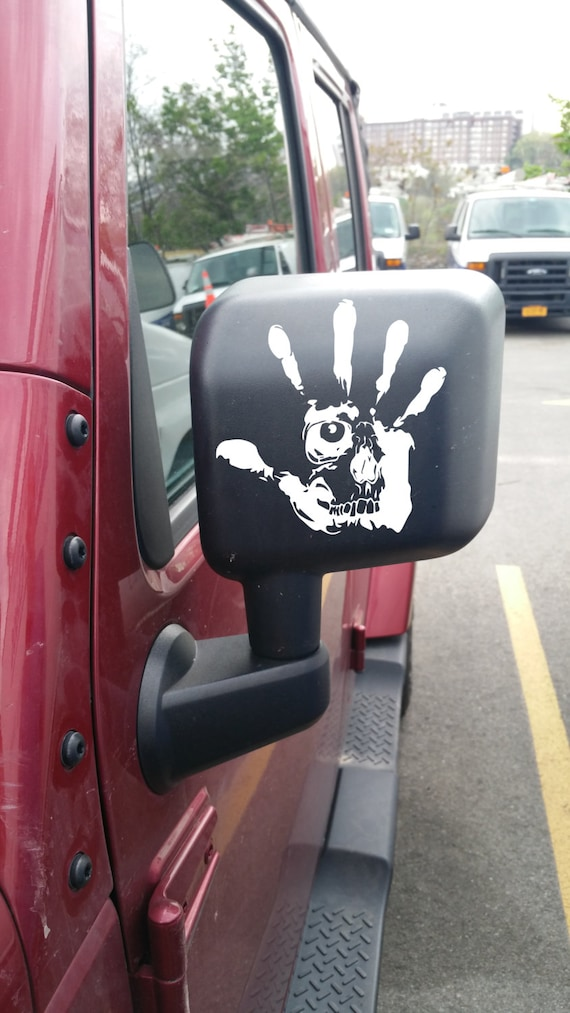 Jeep Wave Skull Car Decal