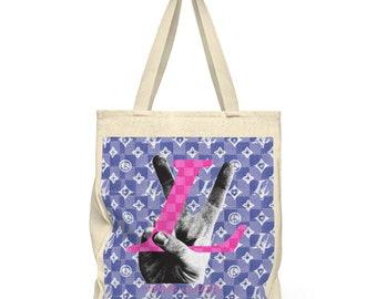 Louis Vuitton Shoulder Tote Bag  Roomy Louis Vuitton Peace And Love Pattern