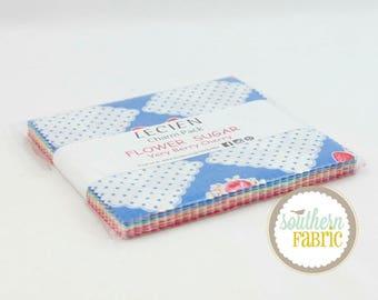 "Flower Sugar - Very Berry Cherry - 42-5""x5"" Charm Pack by Lecien Fabrics"