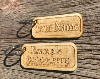 Custom Wooden Key-Chain!