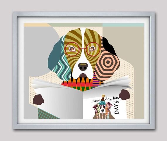 Beagle Pop Art, Beagle Art Print, Beagle Gift, Beagle Poster, Funny Dog Gift, Beagle Wall Decor, Beagle Wall Art, Beagle Painting
