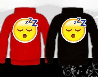 Sleeping Face Emoji Hoodie (U+1F634)
