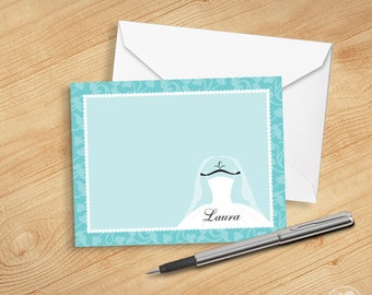 Editable Instant Download - Turquoise Bridal Thank you Cards, Printable Thank you Cards for Bridal Shower, Personalized Thank you Cards
