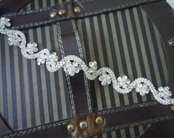 Rhinestones headband, wedding headband,  hair accessories,Wedding headpiece
