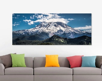 Canvas Art, Mountain, Panoramic, Mt. Rainier, 16x48
