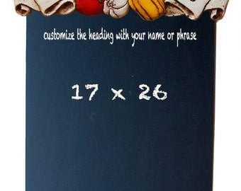 Personalized Kitchen Chalkboard