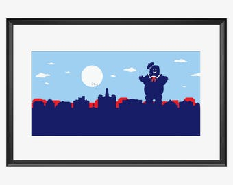Weatherford Skyline, Weatherford art, Weatherford print, Weatherford, Ghostbusters, inspired print, Ghostbusters art, Ghostbusters print