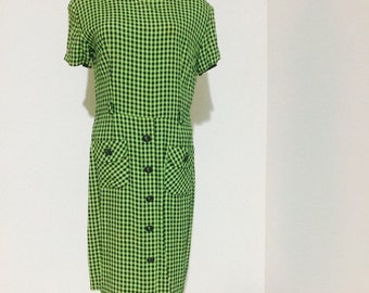 Green Checkered Dress