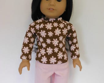 18 inch Doll Clothes Fits American Girl - Knit Pajamas