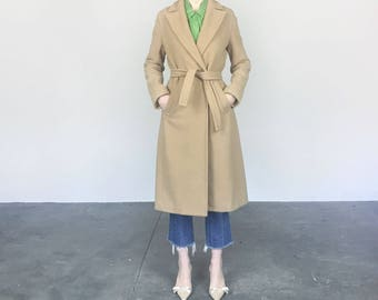 Camel Wool Robe Coat (S/M)