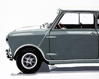 Mini Cooper side view.