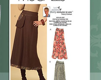OOP Misses Easy Flounce Skirt McCalls 5524 Sewing Pattern Plus and Average Sizes 8-20 UNCUT