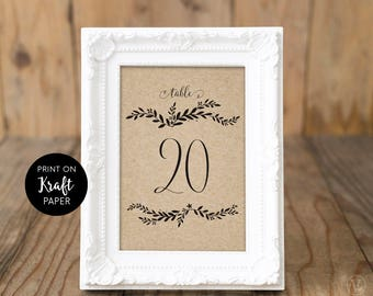 Rustic Wedding Table Numbers 1–40, Reserved and Head Table Signs Included, Two Sizes 5x7 and 4x6, Floral Mr& Mrs, VW18, Floral Antler, VW19