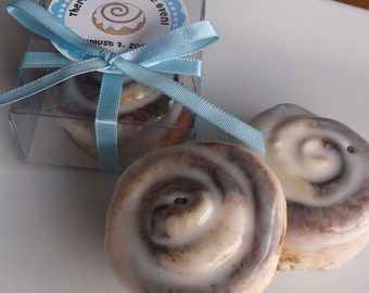 Bun in the Oven - Baby Shower Favors, Girl, Boy, Cinnamon Bun Soap, Bun in the Oven Favors, Unique Baby Favors - Set of 15
