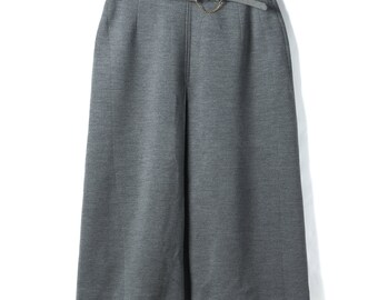 1960's vintage skirt made in Japan Showa retro Gray Pleated by MICALADY