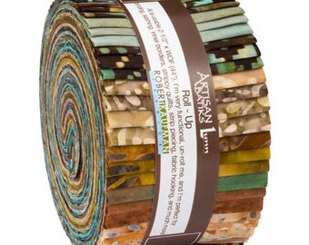 Kaufman Santa Fe Trail 5, Fabric Roll Up, Quilting, Jelly Roll, Batik, Strips