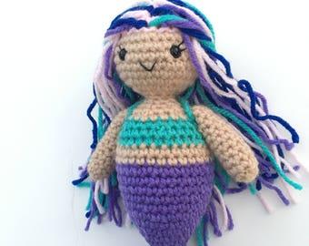 Andrina the Mermaid- Crocheted Mermaid Stuffed Animal Toy